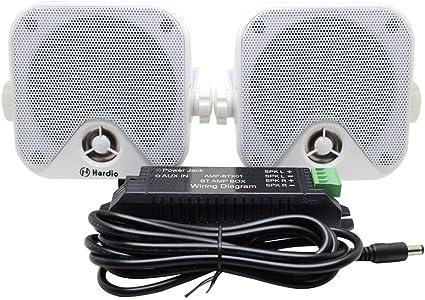 Herdio 100w 10 2 Cm Kompakter Wasserdichter Bluetooth Marine Stereo Box Lautsprecher Für Boot Atv Utv Powersport Fahrzeuge Hof Weiß Elektronik