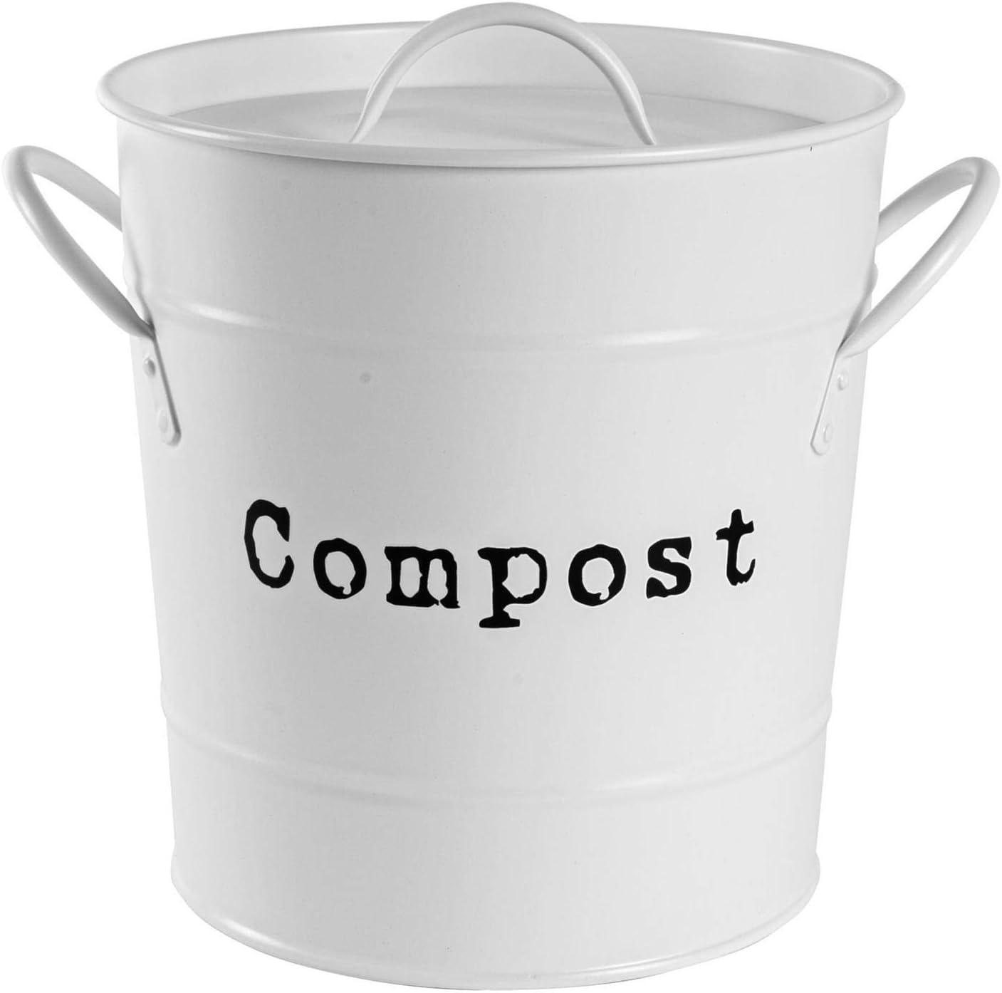 Harbour Housewares El compost recipiente de almacenamiento del ...