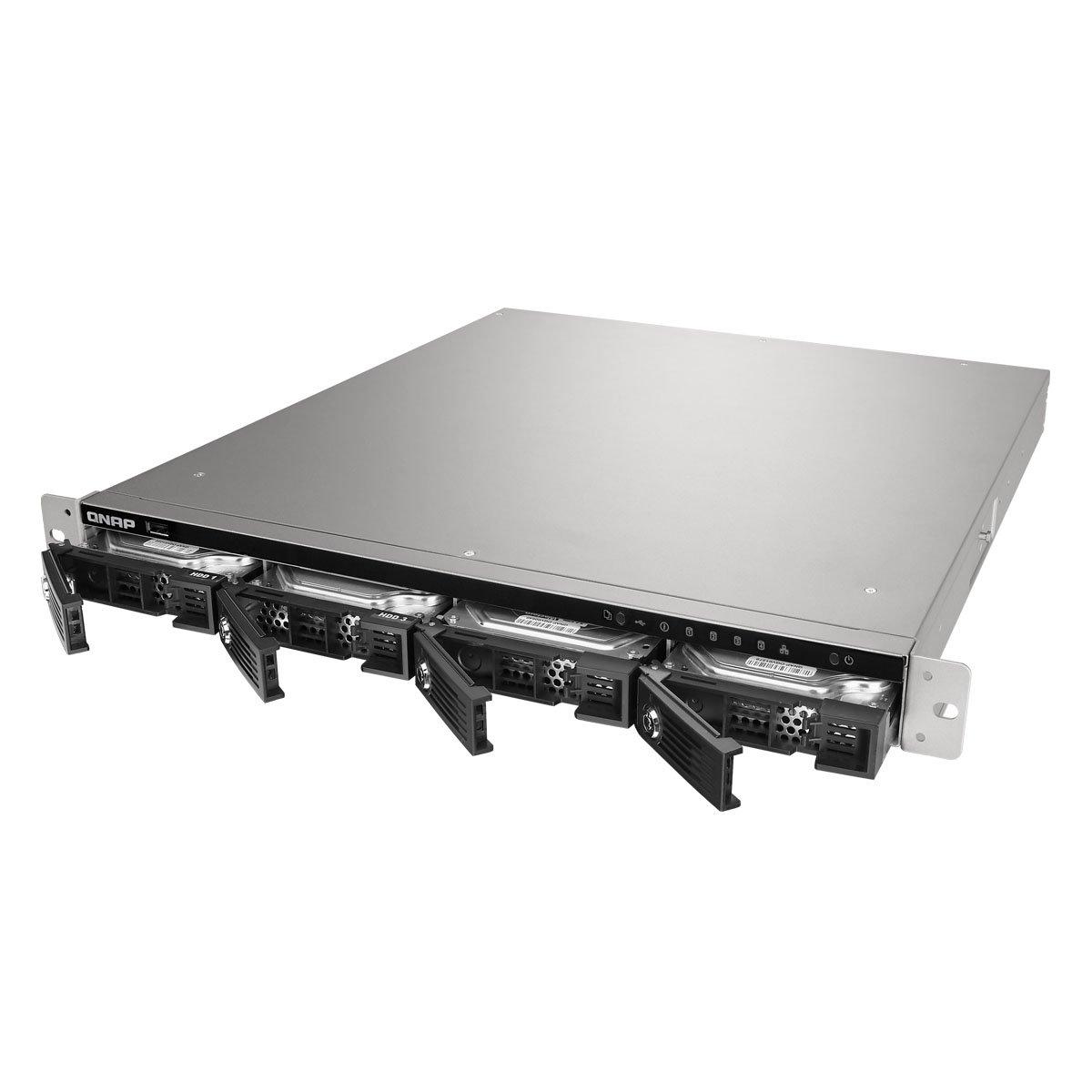 QNAP TS 453U RP 4 bay 1U iSCSI NAS, Intel 2.0GHz Quad Core CPU with 4GB RAM, 2.5''/3.5'' SATA 6Gb/s by QNAP (Image #2)