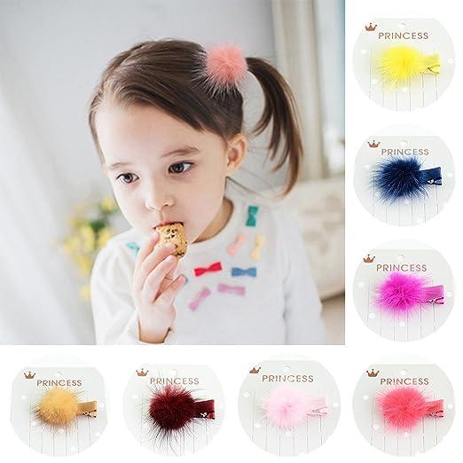 5Teile//satz Korean Fellknäuel Pompon Haarspange Haarspangen Headwear Für Mädchen