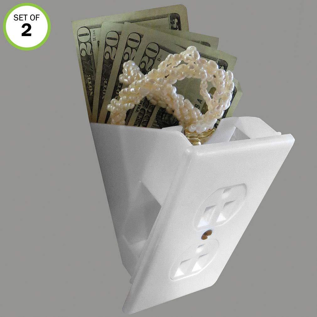 Hide Valuables Cash-Set//4 Green Mountain Imports Evelots Hidden Wall Safes Diversion Safe-Outlet