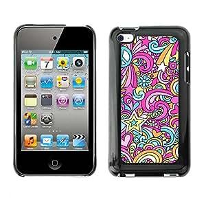 Print Motif Coque de protection Case Cover // V00002506 Psicodélico sin fisuras Doodles Paz // Apple ipod Touch 4 4G 4th