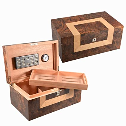 Cigar Humidor Cedar Wooden Large Capacity Storage Surface Solid Wood