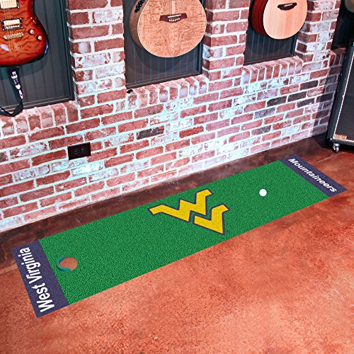 (FANMATS NCAA West Virginia University Mountaineers Nylon Face Putting Green Mat)