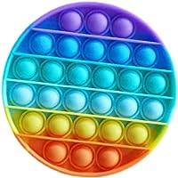 regnbågepop It Fidget Toy - Push Pop Bubble Fidget Sensory Toy - Silikon Pop Bubble Fidget Toy Stressavlastare, Hjälp…