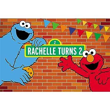 Amazon.com: Fondo de Elmo para fiesta de cumpleaños, diseño ...