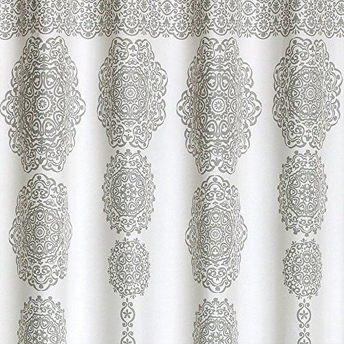 610 d7CK3SL - Lush Decor Stripe Medallion Polyester Shower Curtain