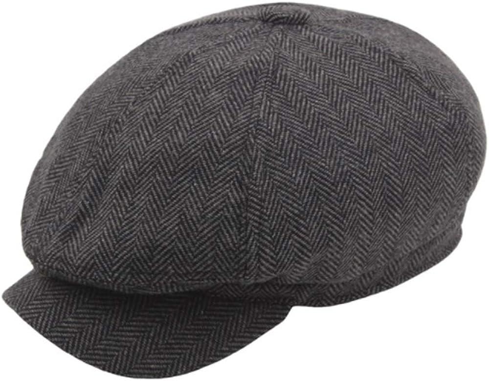 Sfit Winter Gatsby Newsboy Barett Cap Schirmm/ütze Kappe Hut
