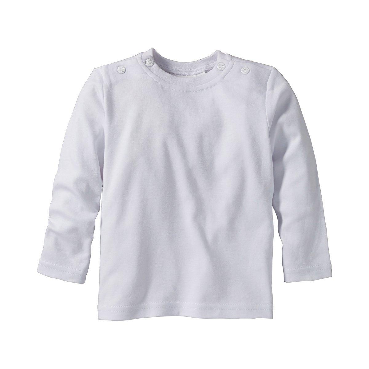 Baumwoll-Longsleeve mit Rundhalsausschnitt /& Druckkn/öpfen an den Schultern Bornino Shirt Langarm Langarmshirt f/ür Babys einfarbig