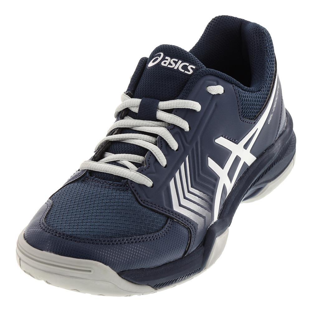 ASICS Men's Gel-Dedicate 5 Tennis Shoe B071HPT25N 11.5 M US|Dark Blue/Silver/White