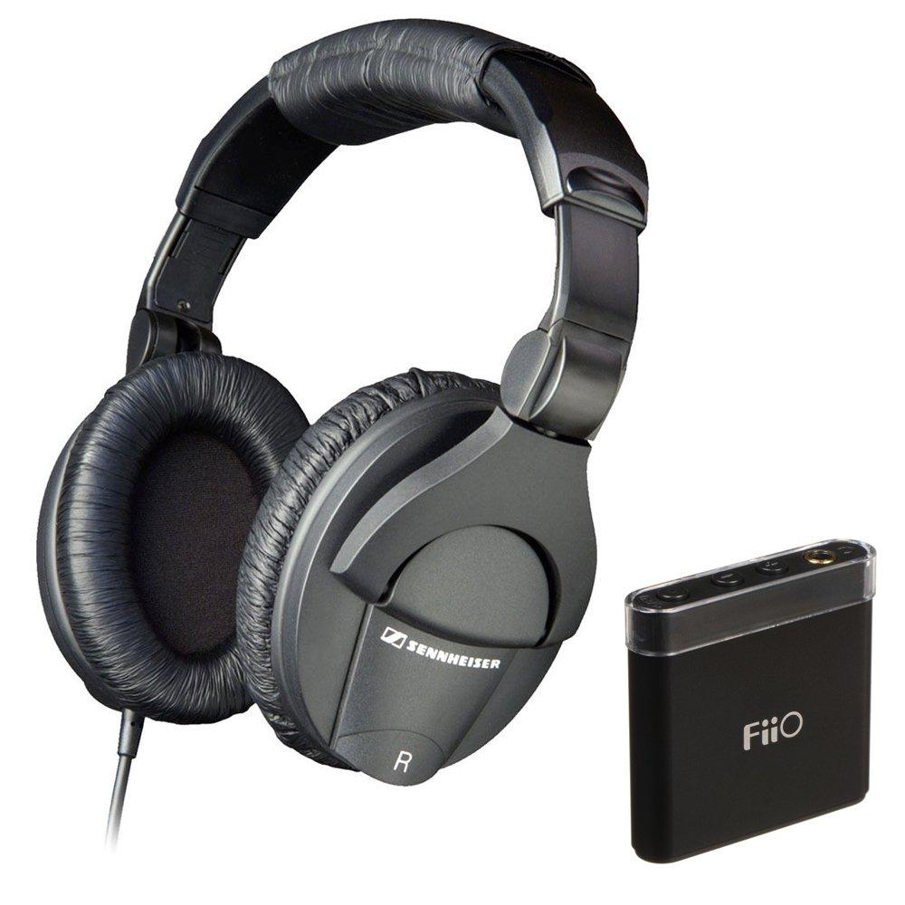 Sennheiser HD 280 Pro Circumaural Closed-Back Monitor Headphones with FiiO A1 Portable Headphone Amp