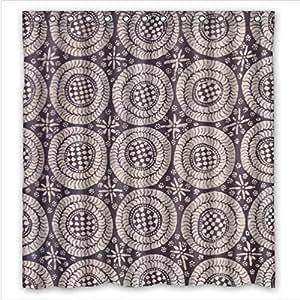 Best Seller Curtain,Batik Fabric Custom 100% Polyester Waterproof Shower Curtain 66 x 72 by icecream design