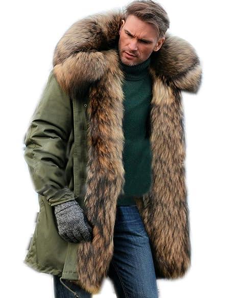 Roiii Mens Down Faux Fur Camouflage Parka Women Hooded Long Winter Jacket Overcoat Plus Size S 3XL