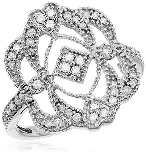 10k White Diamond Ring (1/3cttw, H-I Color, I2-I3 Clarity)