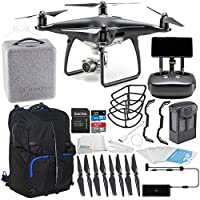 DJI Phantom 4 PRO+ PLUS Obsidian Edition Drone Quadcopter Includes Display (Black) Starters Backpack Bundle