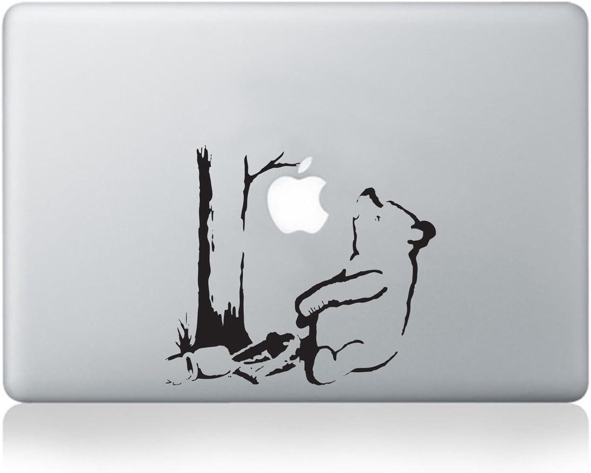 Banksy Winnie The Pooh Bear Vinyl MacBook Decal/Laptop Decal - Fits MacBook Air (11/13), MacBook Pro (13/15), MacBook Pro Retina (13/15) and MacBook Retina (12)