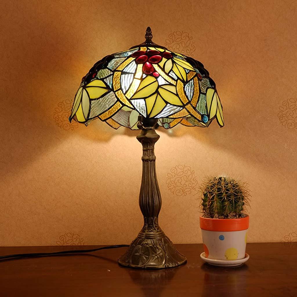 RXY-LAMP (Summer European Mediterranean Retro Style Glass Energy-Saving Feeding Night Light (Size : 30x48cm)