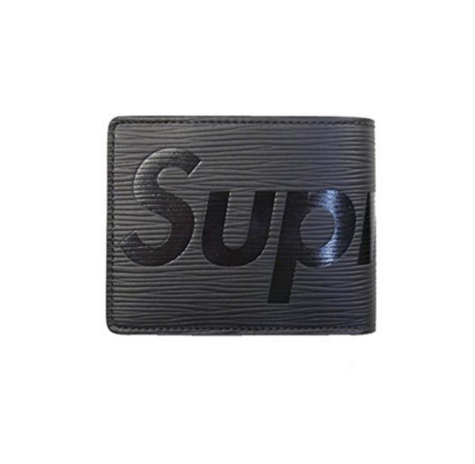 SUPREME&LV Men and women wallets/purse/Short wallet (black)