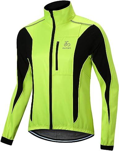 Men Cycling Jacket Fleece Thermal Bicycle Riding Coat Hi Vis Windproof Bike Tops