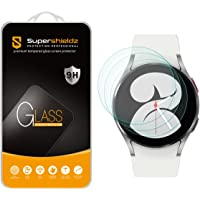 (3 Pack) Supershieldz Designed for Samsung Galaxy Watch 4 (40mm) Tempered Glass Screen Protector, Anti Scratch, Bubble…