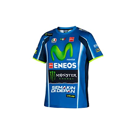 Camiseta Rossi Yamaha Sports tejido dry-fit logos de colores ...