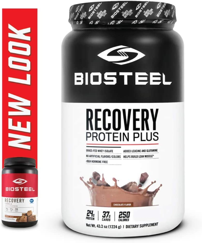 BioSteel Advanced Recovery Protein, Grass Fed, Non GMO, Gluten-Free, Soy-Free, Antibiotic and Hormone-Free, Chocolate, 1224 Gram