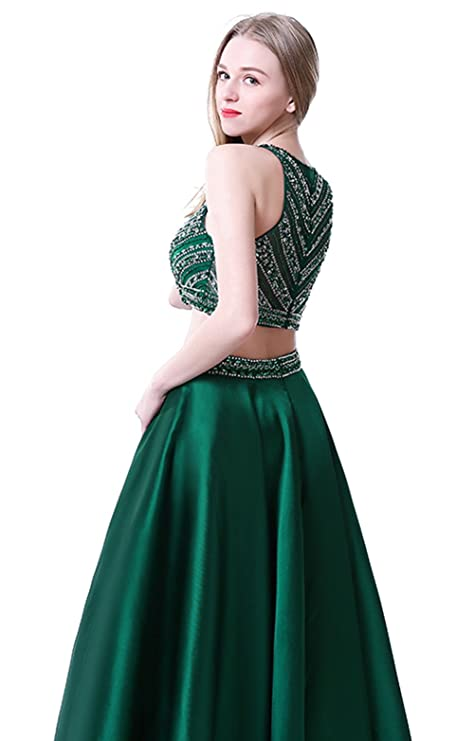 Amazon.com: Sweetdresses Two Pieces Long Prom Dresses Rhinstone Jewel Evening Dress: Clothing