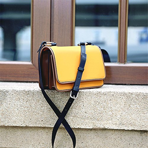 Simple Retro Bag Buckle Messenger Bag Yellow Shoulder Square Small Magnetic Leisure Ffrwn8f