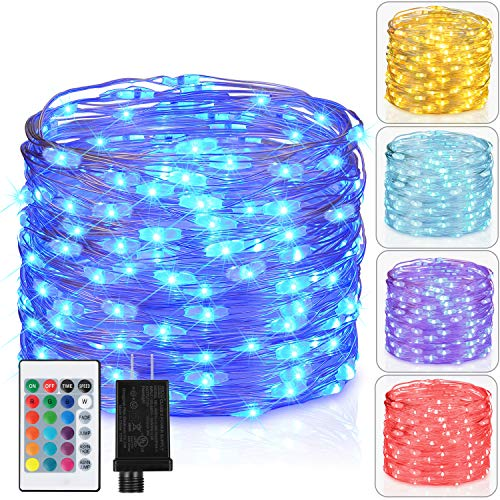 Firefly One Light - Asmader Fairy Lights Plug in Multi Color Change Remote String Lights with Timer, 33 ft 100 LEDs Firefly Twinkle Lights for Indoor, Bedroom, Party, Wedding, Christmas Decor, 16 Color