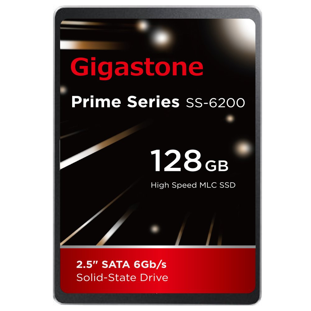 Gigastone 128GB SSD Intel MLC 2.5'' SATA 3 Solid State Drive [Performance HD Upgrade for HP Dell Samsung Sony Asus PC, Apple Mac Macbook, Laptop, Notebook Ultbook, Gaming, Video Editing, Server, Raid]