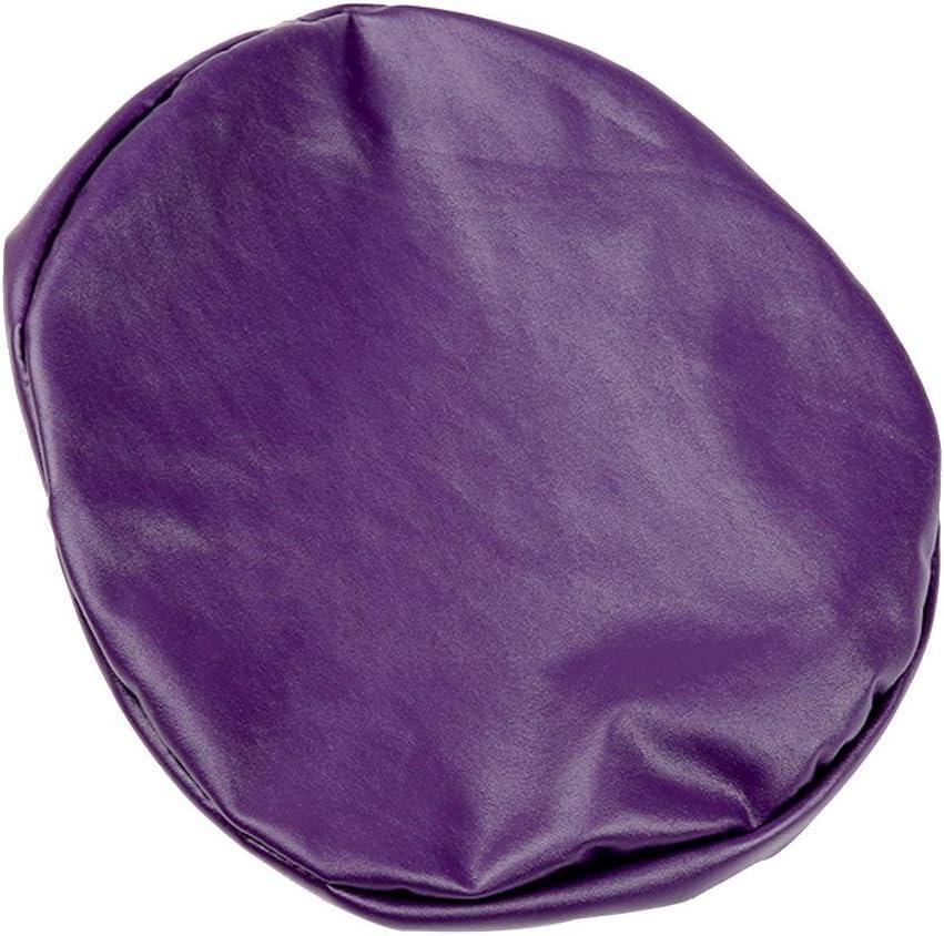 Rivestimento cuscino seggiolino protezione elastico PU Pelle rotondo sgabello sedia copertura impermeabile Pompa Sedia Protezione Bar salone di bellezza piccolo rotondo Sedile Cuscino maniche grigio