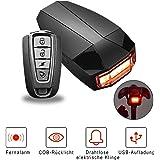 Eclairage Arrière Vélo, OUTERDO Feu Arrière Vélo USB Rechargeable LED Intelligent Alarme Antivol Sans Fil de Vélo Résistant à l'Eau Puissant