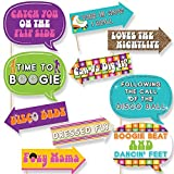 Big Dot of Happiness Funny 70's Disco - 1970s Disco Fever Photo Booth Props Kit - 10 Piece