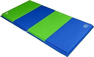 We Sell Mats 4 ft x 8 ft Gymnastics Mat, Folding Tumbling Mat, Portable with Hook & Loop Fasteners
