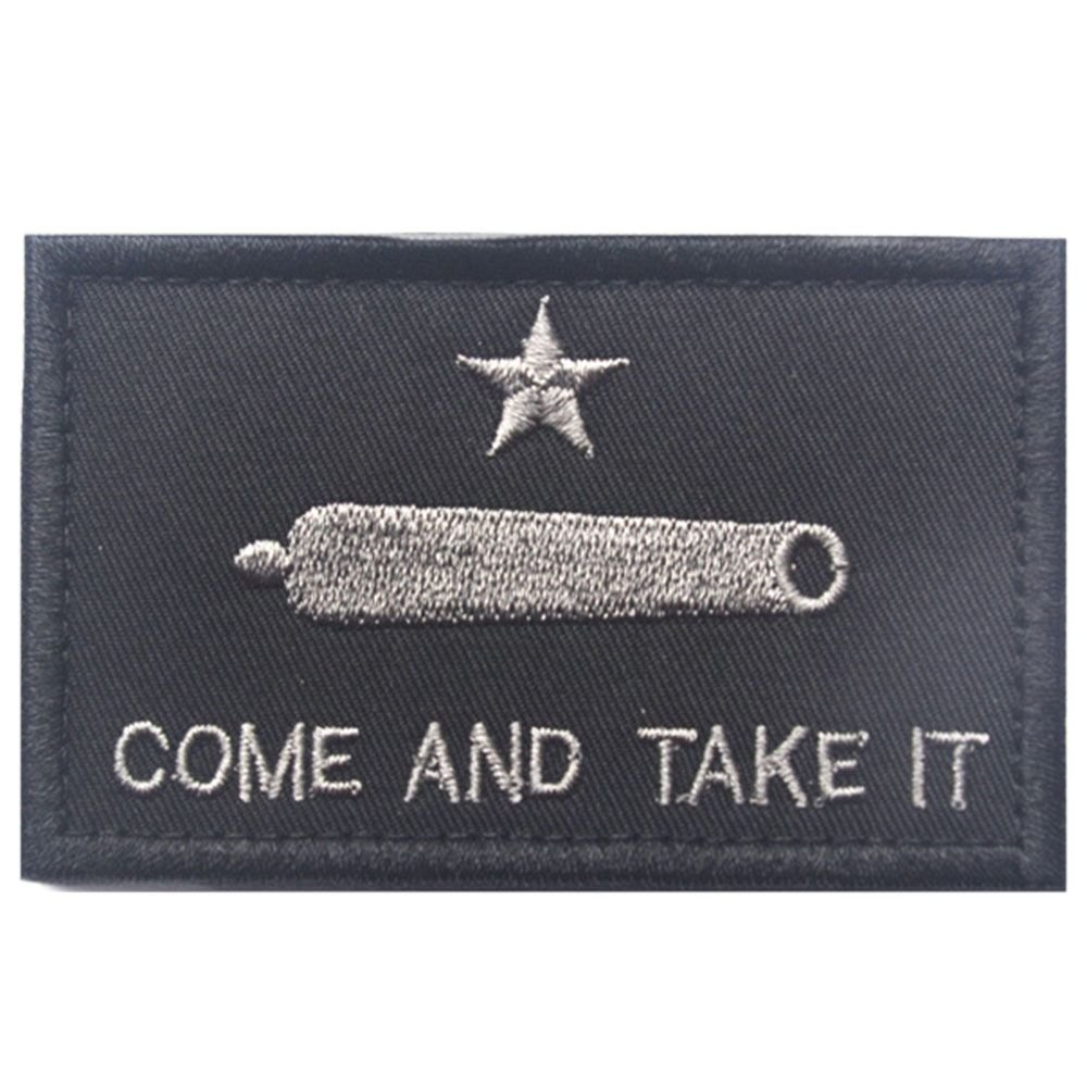 GGG COME AND TAKE IT Gonzales Texas Revolution New Tactical Patch Tape Army Morale Grey