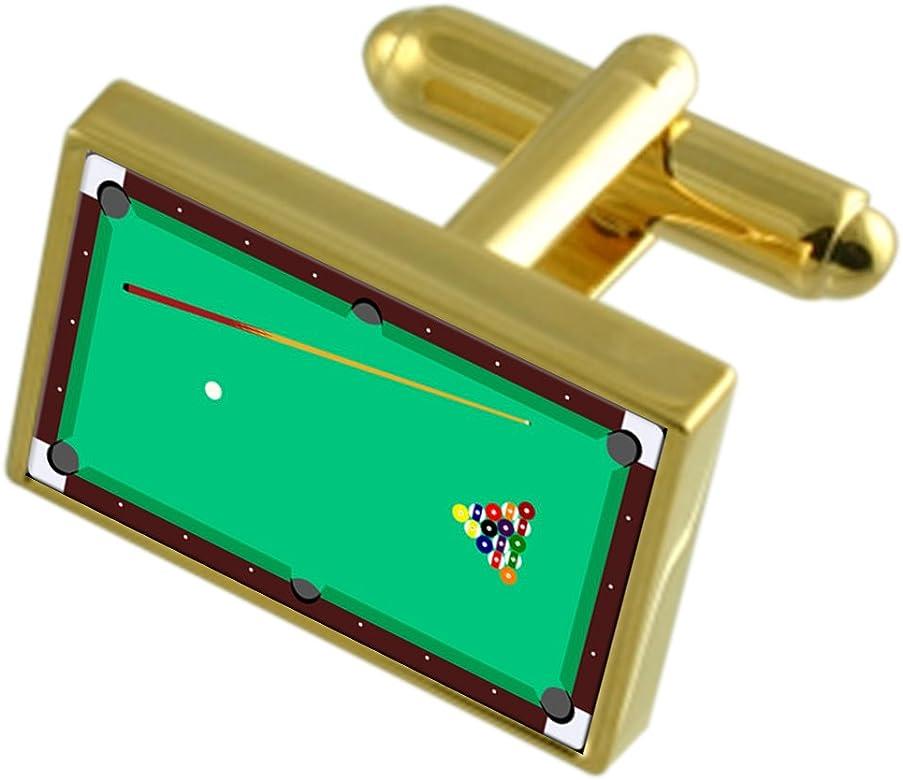 Select Gifts Mesa de Billar de Tono Oro Gemelos Cuadro de Mensaje Grabado: Amazon.es: Joyería
