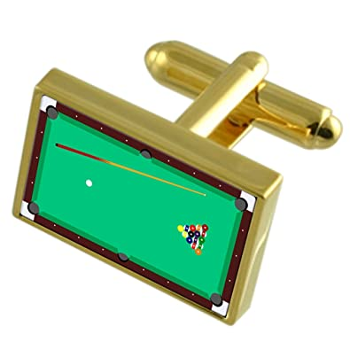Select Gifts Mesa de Billar de Tono Oro Gemelos Bolsa Negra ...