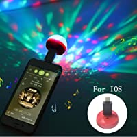 Mobile Stage Lights Mini LED Crystal Magic Ball Colorful Sound Control Lights for iPhone