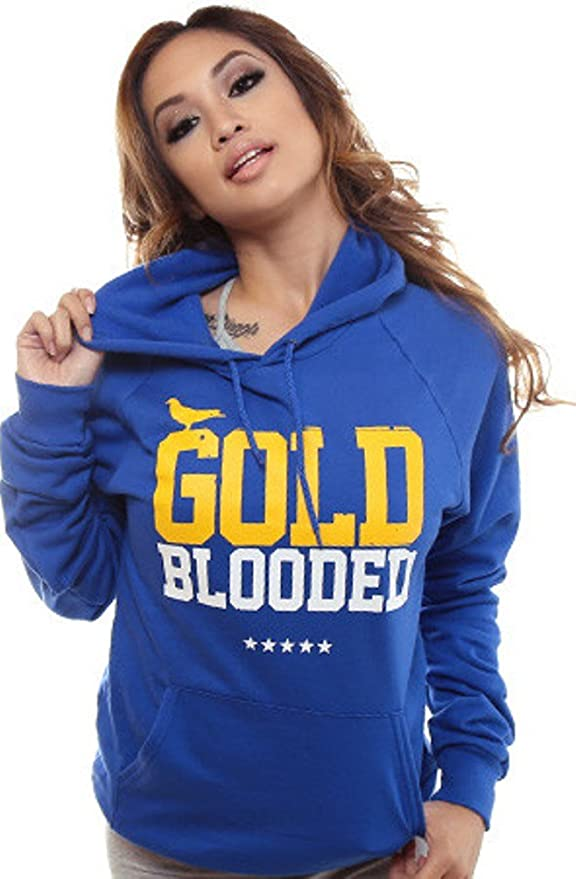 3889e3082a7 Amazon.com  Adapt Women s GOLD BLOODED Hoody  Clothing