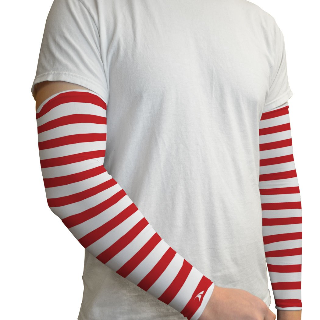 Gone For a Run Printed Arm Sleeves Candy Cane Stripes by Gone For a Run (Image #3)