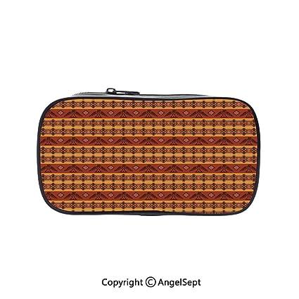 2188926712ce Amazon.com: Big Capacity Pencil Case 1L Storage,Ethnic Seamless ...