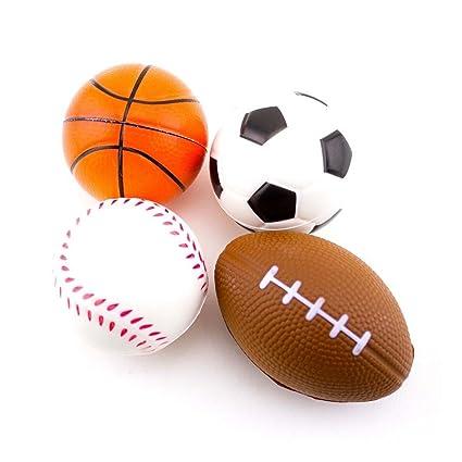 12 pelotas de esponja de balón de baloncesto de espuma para fútbol ...