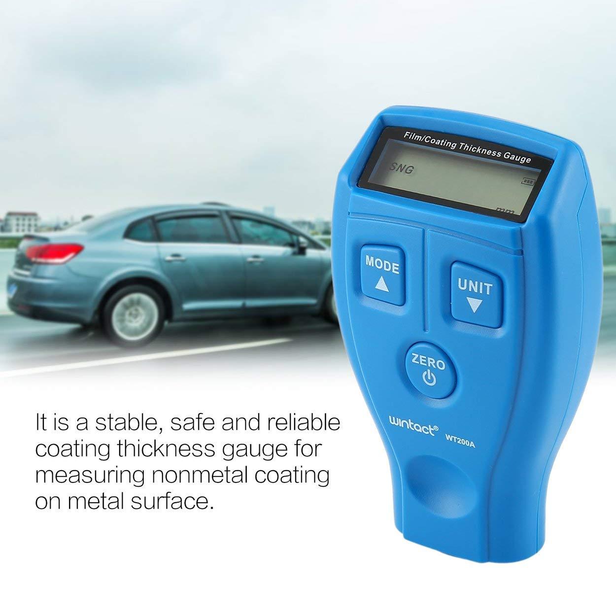 Lorenlli Fit WINTACT WT200A Mini Digitaler Beschichtungsfilm Eisendickenmessgerät Auto Meter Paint Painting Tester Handheld Testing 0-1.80mm