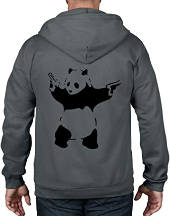 BANKSY PANDA WITH GUN UNISEX SWEATSHIRTS JUMPERS