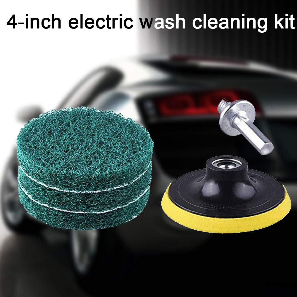 Tampons de polissage humides et secs avec disques adh/ésifs pour toute perceuse sans fil 8mm Voir image Disques abrasifs de 10,2 cm Outil de nettoyage /électrique pour la maison
