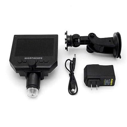 Portable 600X HD 3 .6MP CCD Pixel 4.3 Inch OLED Display LCD Digital Microscope
