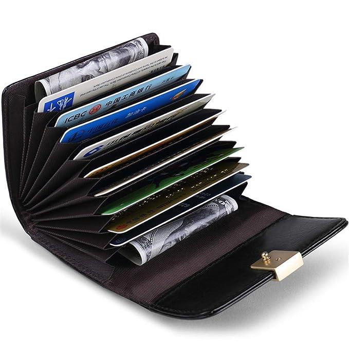 9798c756182d JEEBURYEE Womens RFID Blocking Credit Card Holder Small Leather Accordion  Wallet