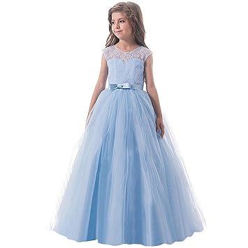 032407490d7c8 子供ドレス Plojuxi ロングドレス キッズ レースワンピース チュール 女の子 ジュニア ピアノ 発表会 パーディー 演奏