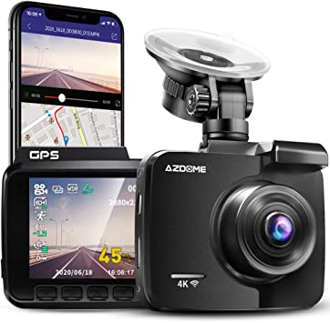Azdome Car Camera With 4k Resolution Wifi Dash Cam Gps Elektronik