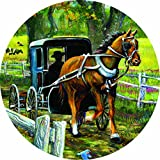 Accent Magnet-Horse & Buggy - Auto - Home - Kitchen -Yard -Six (6) Inch - Made in USA - Licensed , Copyrighted by Custom Decor Inc.